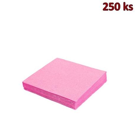 Papírové ubrousky 3-vrstvé, 40 x 40 cm růžové [250 ks]