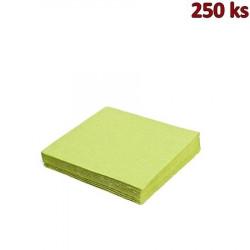 Papírové ubrousky 3-vrstvé, 40 x 40 cm žlutozelené [250 ks]