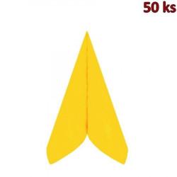 Ubrousky PREMIUM 40 x 40 cm žluté [50 ks]
