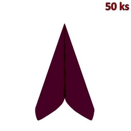 Ubrousky PREMIUM 40 x 40 cm bordové [50 ks]