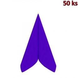 Ubrousky PREMIUM 40 x 40 cm tmavě fialové [50 ks]