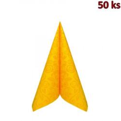 """Ubrousky PREMIUM 40x40cm """"dekor R"""" žluté [50 ks]"""