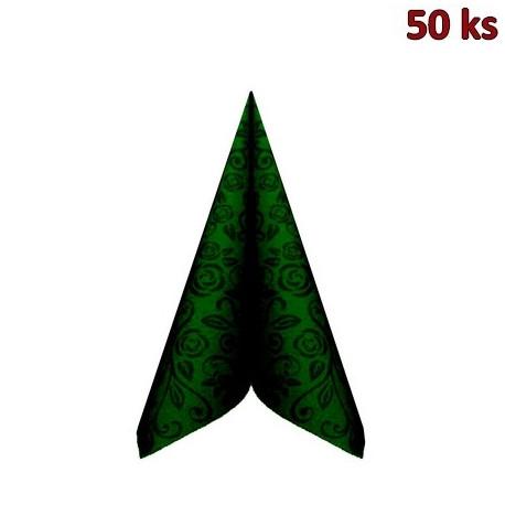 "Ubrousky PREMIUM 40x40cm ""dekor R"" tmavě zelené [50 ks]"