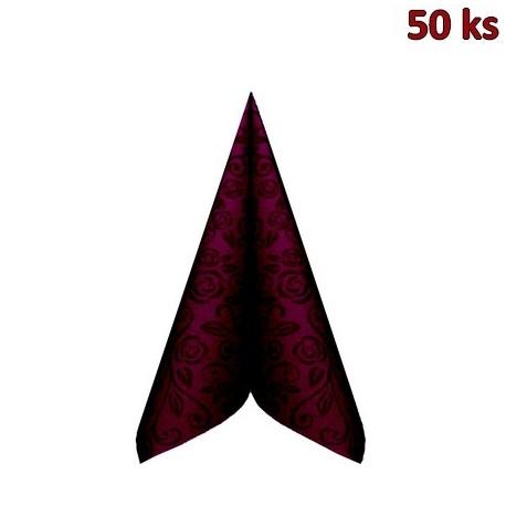 "Ubrousky PREMIUM 40x40cm ""dekor R"" bordové [50 ks]"