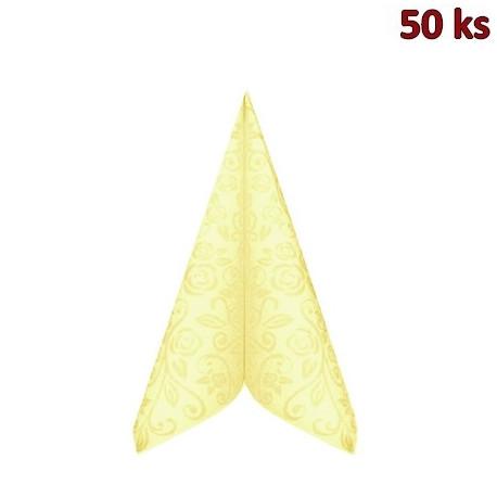"""Ubrousky PREMIUM 40x40cm """"dekor R"""" béžové [50 ks]"""