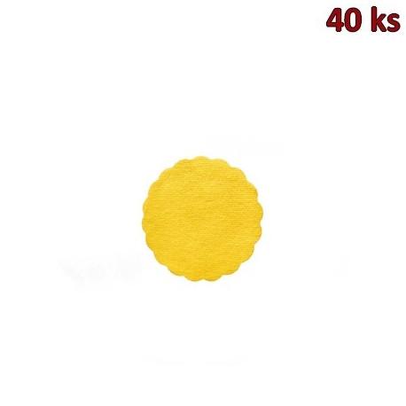 Rozetky PREMIUM Ø 9 cm žluté [40 ks]