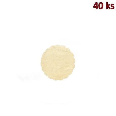 Rozetky PREMIUM Ø 9 cm béžové [40 ks]