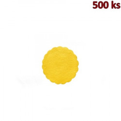 Rozetky PREMIUM Ø 9 cm žluté [500 ks]