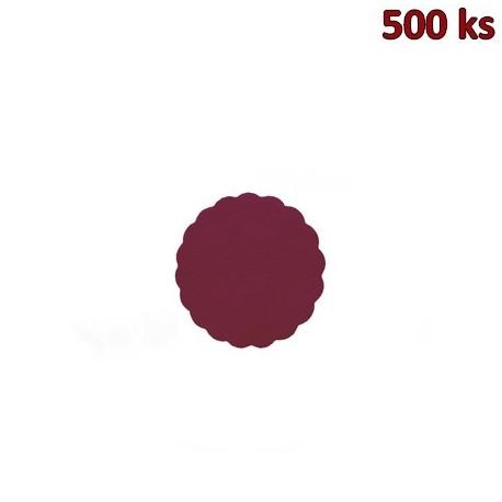 Rozetky PREMIUM Ø 9 cm bordové [500 ks]