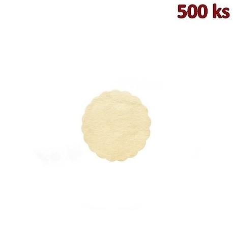 Rozetky PREMIUM Ø 9 cm béžové [500 ks]