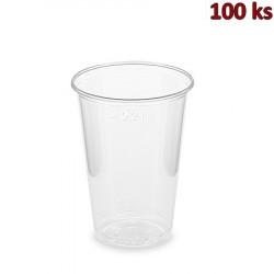 Plastový kelímek BIO průhledný 0,2 l PLA (Ø 70 mm) [100 ks]