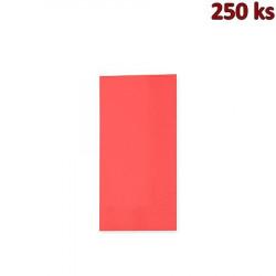 Papírové ubrousky 3-vrstvé, 33 x 33 cm červené 1/8 skládání [250 ks]