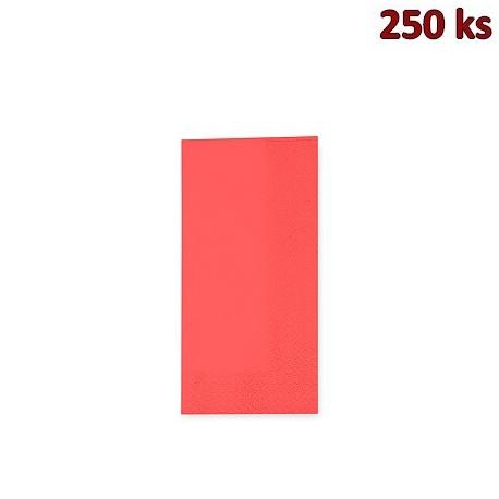Ubrousky 3-vrstvé, 33 x 33 cm červené 1/8 skládání [250 ks]