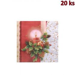 Vánoční ubrousky motiv 84080 3-vrstvé, 33 x 33 cm [20 ks]
