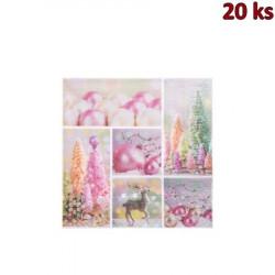 Vánoční ubrousky motiv 84166 3-vrstvé, 33 x 33 cm [20 ks]