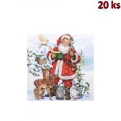 Vánoční ubrousky motiv 84281 3-vrstvé, 33 x 33 cm [20 ks]