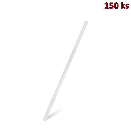Slámky JUMBO bílé (PLA) -BIO- 25 cm, Ø 8 mm [150 ks]