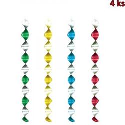 Spirály lesklé 60 cm (Ø 7,5 cm) [4 ks]