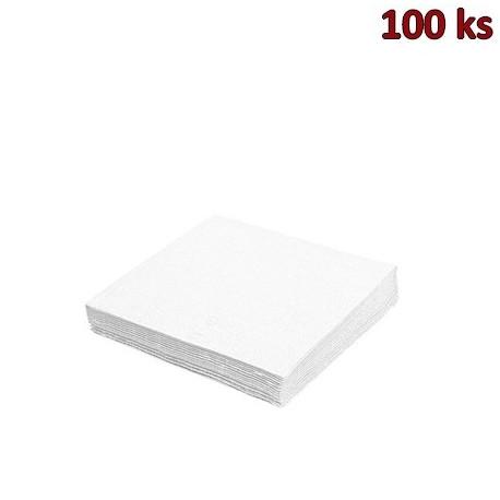 Ubrousky 1-vrstvé, 33 x 33 cm bílé [100 ks]