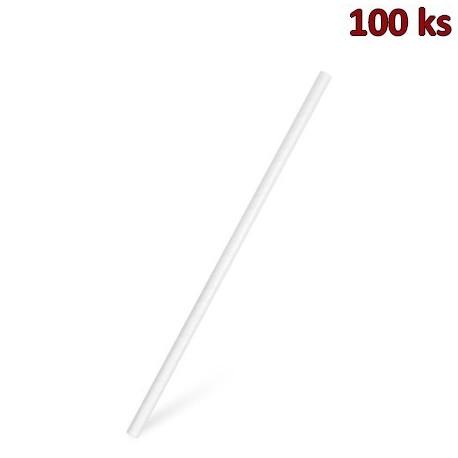 Slámky papírové JUMBO bílé 25 cm, Ø 8 mm [100 ks]