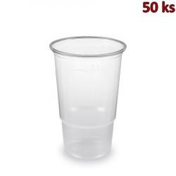 Plastový kelímek průhledný 0,5 l PP (Ø 95 mm) [50 ks]