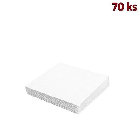 Papírové ubrousky bílé 1-vrstvé, 33 x 33 cm [70 ks]