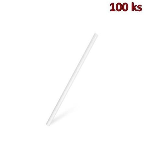 Slámky papírové JUMBO bílé 20 cm, Ø 8 mm [100 ks]