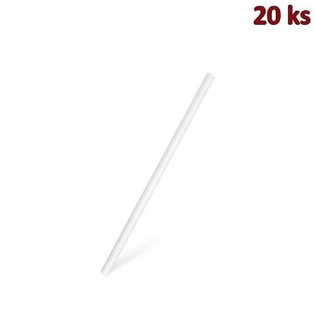 Slámky papírové JUMBO bílé 20 cm, Ø 8 mm [20 ks]