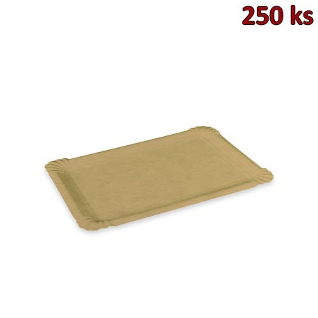 Papírový tácek hnědý 17 x 23 cm [250 ks]