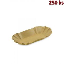Papírová miska oválná, hnědá 10,5 x 17,5 x 3 cm [250 ks]