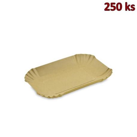 Papírová miska hnědá 13 x 18 x 3 cm [250 ks]