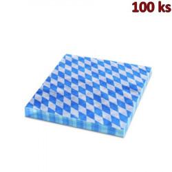 Papírové ubrousky 1-vrstvé, 33 x 33 cm BAVORSKO modré [100 ks]