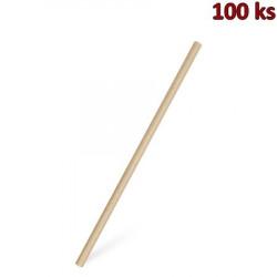 Slámka papírová JUMBO natural 25 cm, Ø 8 mm [100 ks]