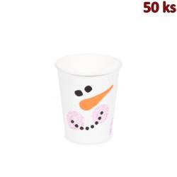 Papírový kelímek - Sněhulák 280 ml (Ø 80 mm) [50 ks]