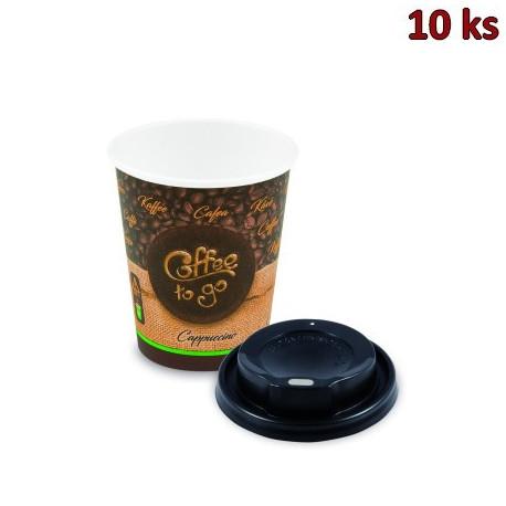 "Pap. kelímek ""Coffee to go"" 280 ml, + vícko (Ø 80 mm) [10 ks]"