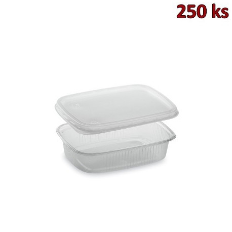 Miska hranatá průhledná 125 ml + víčko (PP) [2 x 250 ks]