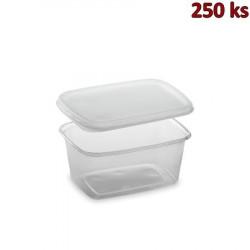 Plastová miska s víčkem 250 ml (PP) [250 ks]
