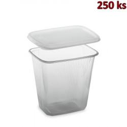 Plastová miska s víčkem 500 ml (PP) [250 ks]
