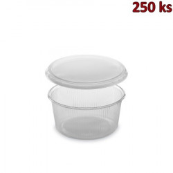 Plastová miska kulatá s víčkem 250 ml (PP) [250 ks]