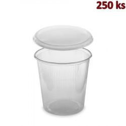 Plastová miska kulatá s víčkem 500 ml (PP) [250 ks]