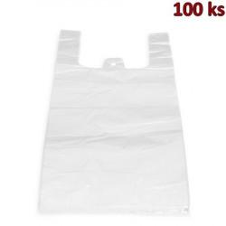 Mikrotenové tašky 20 kg extra silné bílé 40 + 20 x 60 cm [100 ks]