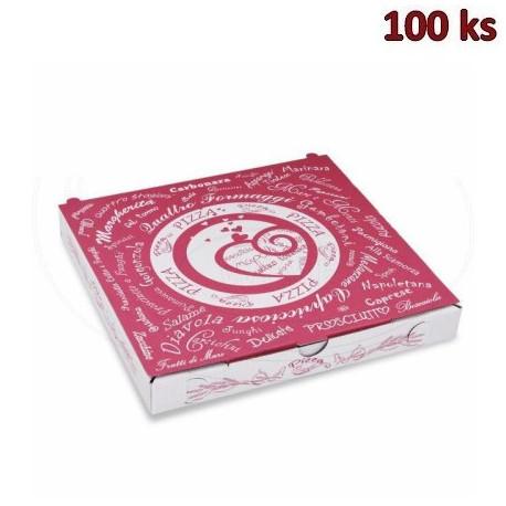 Krabice na pizzu z vlnité lepenky 24 x 24 x 3 cm [100 ks]