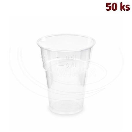 Kelímek průhledný 0,5 l (PLA) -BIO- (Ø 102 mm) [50 ks]