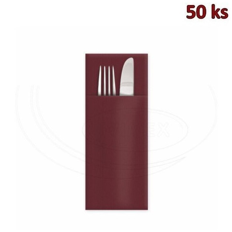 "Ubrousek PREMIUM 32 x 40 cm ""CutleryStar"" bordový [50 ks]"