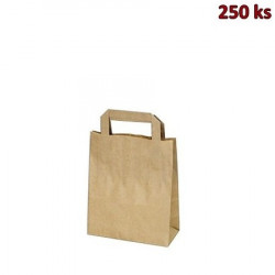 Papírové tašky 18 x 8 x 22 cm hnědé [250 ks]