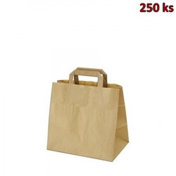 Papírové tašky 26 x 17 x 25 cm hnědé [250 ks]