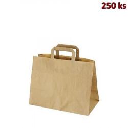 Papírové tašky 32 x 16 x 27 cm hnědé [250 ks]