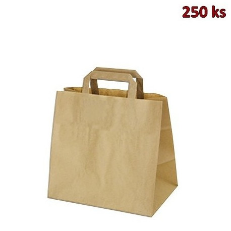Papírové tašky 32 x 21 x 33 cm hnědé [250 ks]