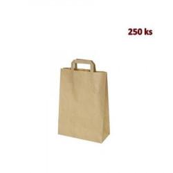 Papírové tašky 22 x 10 x 28 cm hnědé [250 ks]