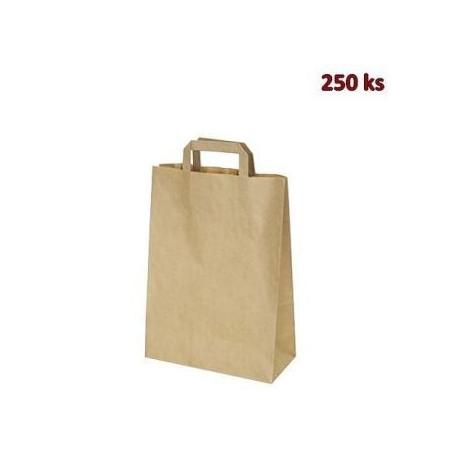 Papírové tašky 26 x 14 x 32 cm hnědé [250 ks]